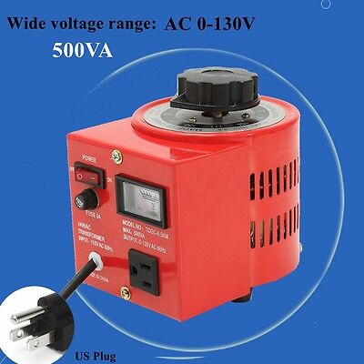 Variac Variable Transformer AC Voltage Regulator Metered 500W 0-130V 5 Amp 500VA