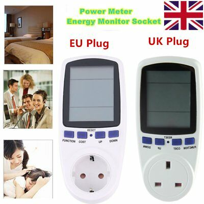New EU Plug Energy Meter Watt Volt Voltage Electricity Monitor Analyzer Power HG