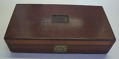 Antique mahogany and brass box ideal for small gun