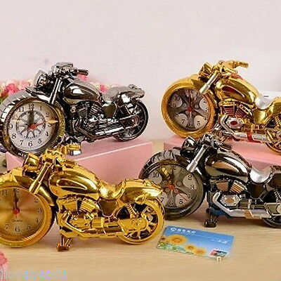 Home Clock Fashion Retro Motorcycle Model Bedroom Desk Alarm Clock Best Gifts