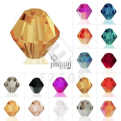 40/50/120/150pcs Bicone Crystal Spacer Loose Beads Jewelry Findings 3/4/6/8mm HC