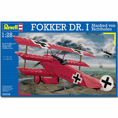 REVELL Fokker Dr.I Richthofen 1:28 Aircraft Model Kit - 04744