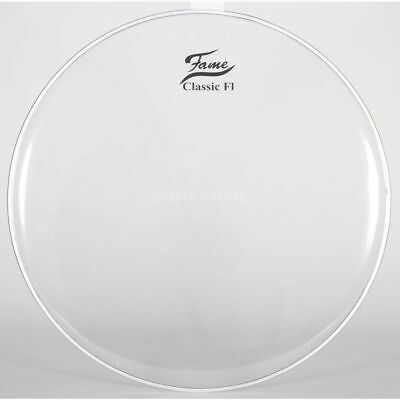 "Fame Fame - BassDrum Fell Classic F1, 22"", clear"