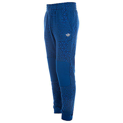 Boys adidas Lx Moto Jog Pants In Blue-Pockets To Sides-Panels With Flanges At