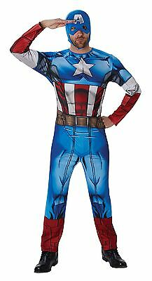 Fancy Dress Costume ~ Adults Classic Captain America Costume