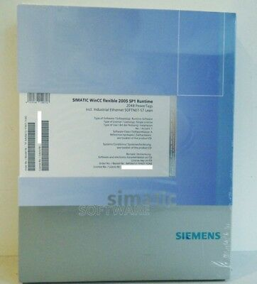 SIEMENS SIMATIC WinCC flexible 2005 SP1 6AV6613-1FA01-1CA0 Run. Software -unused