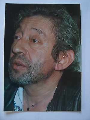 Serge Gainsbourg - Poster , Affichette  ( 24 x 34 cm ; Tirage Photo , couleur )