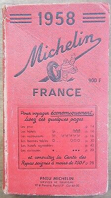 Guide Rouge Michelin - France - 1958   - Bon État -