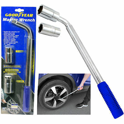 Goodyear Wheel Master Wrench Telescopic Extendable Socket Nut 17-19/21-31mm Tyre