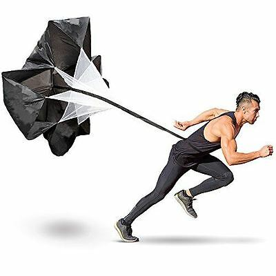 Resistance Parachutes for Sprint Speed and Strength Training with Drawstring Sto