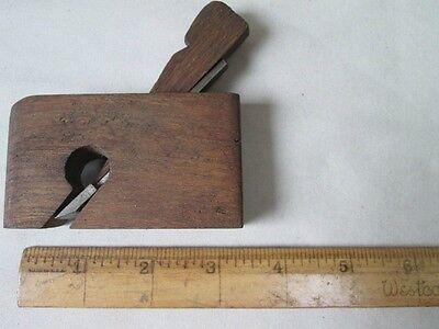 Vintage Wood HAND PLANER, Small, Metal Cutter,C.1860, #2