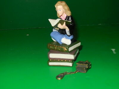 HaRRy PoTTeR  HERMIONE BOOKWORM  CERAMIC PIECE WITH SECRET COMPARTMENT AND CHARM