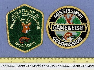 MISSISSIPPI DNR GAME & FISH WILDLIFE CONSERVATION (~2 Patches) Police Patch DEER