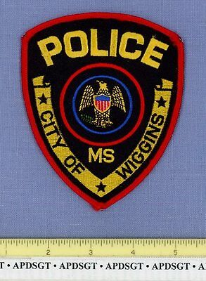 WIGGINS MISSISSIPPI MS Sheriff Police Patch STATE SEAL