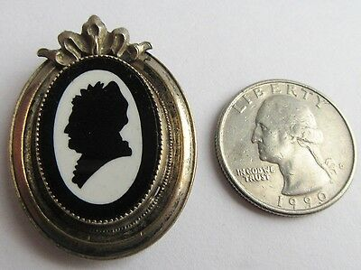 Queen Victoria Silhouette Dress or Fur Clip Mourning Pin