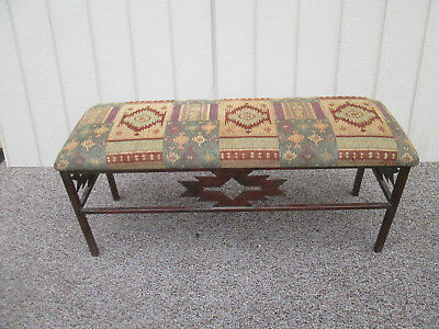 58338  Metal and Fabric South Western Window Bench Stool