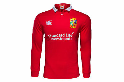 Canterbury Mens British & Irish Lions 2017 Match Day Classic L/S Rugby Shirt Top