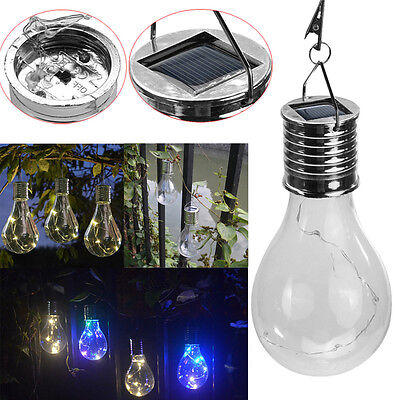 Solar Rotatable Outdoor Garden Camping Hanging 5 LED Light Lamp Bulb Waterproof
