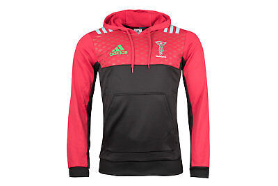 adidas Mens Harlequins 2017/18 Players Performance Hooded Rugby Sweat