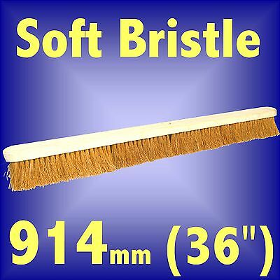 Silverline Soft Bristle Coco Broom 914mm 36 brush head hard floor sweeping