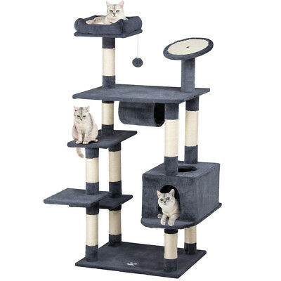 2018 New Cat Tree Tower Condo Furniture Scratch Post Kitty Pet House Play Brown