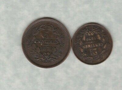 1870 Luxembourg 5 Cents In Good Very Fine Condition