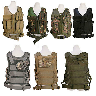 Molle Modular Assault Military Tactical SWAT Police combat Vest Protective Gear