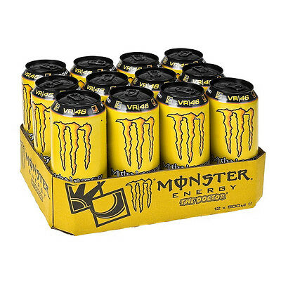 MONSTER ENERGY THE DOCTOR 500ml CASE OF 12 ENERGY DRINKS WHOLESALE RETAIL 187899