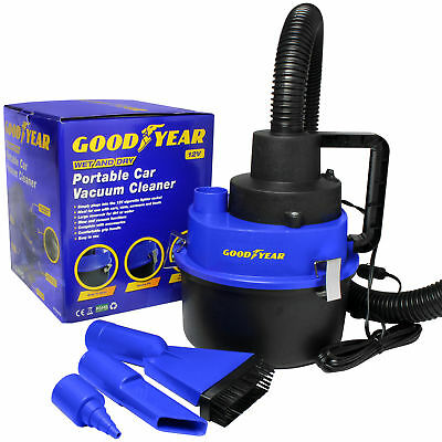 Goodyear 12V Wet Dry Car Vacuum Cleaner Portable Handheld Van Cigarette Lighter