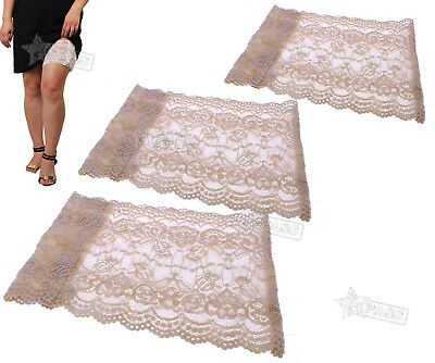 3 Sizes Elastic Non Slip Anti-Chafing Nude Lace Sock Thigh Band Legs Warmers
