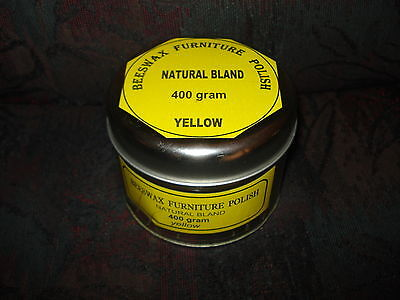 400 gram natural BEESWAX FURNITURE POLISH , yellow color,odorless. FREE POSTAGE