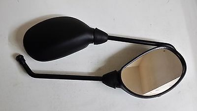 Yamaha YBR125 Motorcycle Mirrors Pair Black With 10mm-M10 Screw Type Fixing