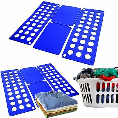 T-Shirt Clothes Folder Magic Fast Laundry Organizer Folding Board 40X16CM Easy