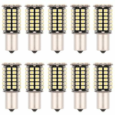 2 x 6000K White 1157 BAY15D 80-SMD LED Light Bulbs Tail Brake Stop 1142 1154 12V