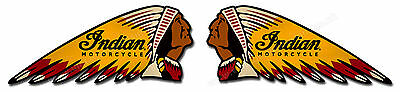 "Pair Of Indian War Bonnet Digitally Cut Out Vinyl Stickers. 6"" X 2.5"""