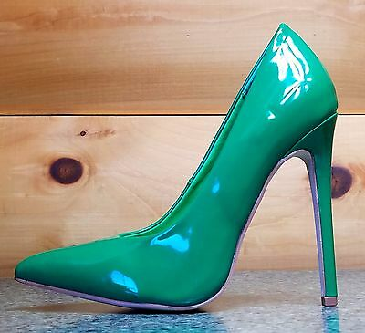 f28311326a Alba Ricky Green Patent Pointy Toe Pump Shoe 4.5