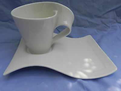 Villeroy & and Boch NEW WAVE CUP  10cm x 8cm Tall & SAUCER, Excellent.