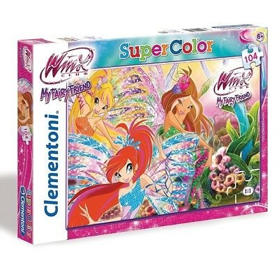 Winx Club - My Fairy Friend Super Color Puzzle 104 Teile
