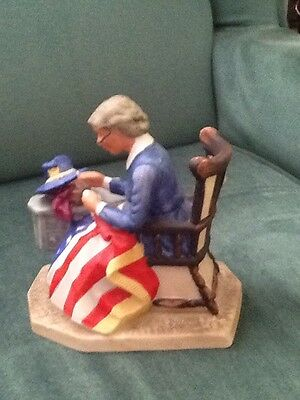 """Norman Rockwell Collector's Club 1981 Annual Figurine """"Mending The Flag"""""""