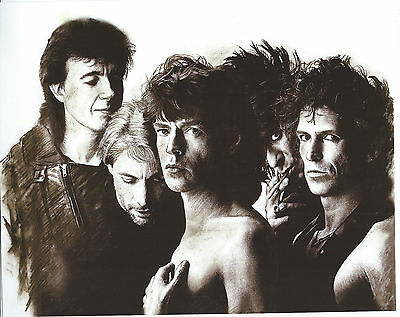 Rolling Stones 8 X 10 Photo Art With Ultra Pro Toploader