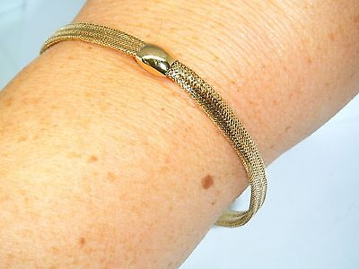 9ct Gold 9k Gold Beautiful Mesh design Hallmarked bracelet