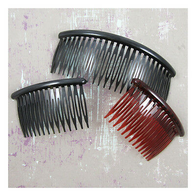 2 x PLASTIC HAIR COMB BLANKS *2 SIZES* *2 COLOURS* TIARA HAIR ACCESSORIES CRAFT