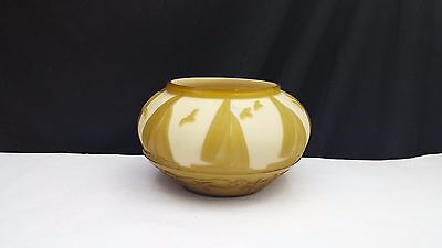 "Kelsey Murphy Pilgrim Cameo Art Glass Bowl ""Sailing"""