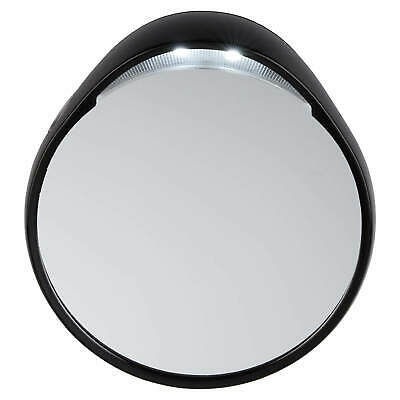 Tweezerman Tweezermate Small Round 10x Magnifying Lighted/Lit Travel Mirror