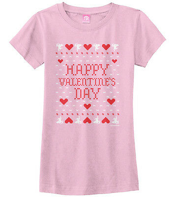 Happy Valentine S Day Ugly Sweater Toddler T Shirt Heart Cupid