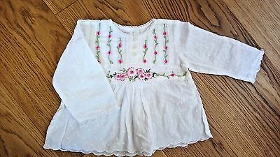 Monsoon Children Baby Girl Embroidery Top Blouse 6-12 Months
