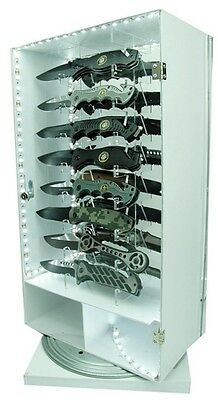 16 Knife LED Lighted Revolving store display Counter top Impulse sales wholesale