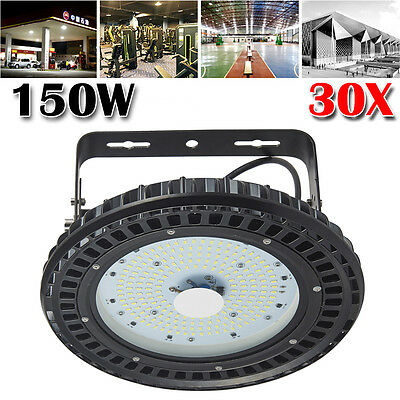 30pcs 150W LED High Bay UFO Light Gym Factory Warehouse Industrial Shed Lighting