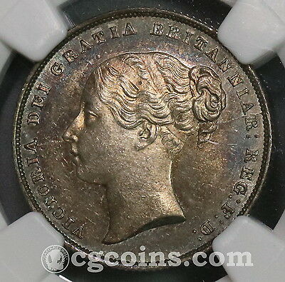 1852 NGC MS 63 Victoria Silver Shilling GREAT BRITAIN Coin (16101404C)
