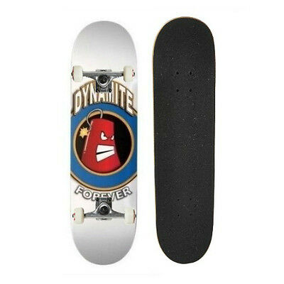 """Dynamite Complete Skateboard Iconic White 7.8"""" Pre-Assembled FREE POST"""
